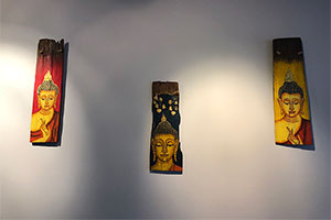 Buddha Wood Paintings